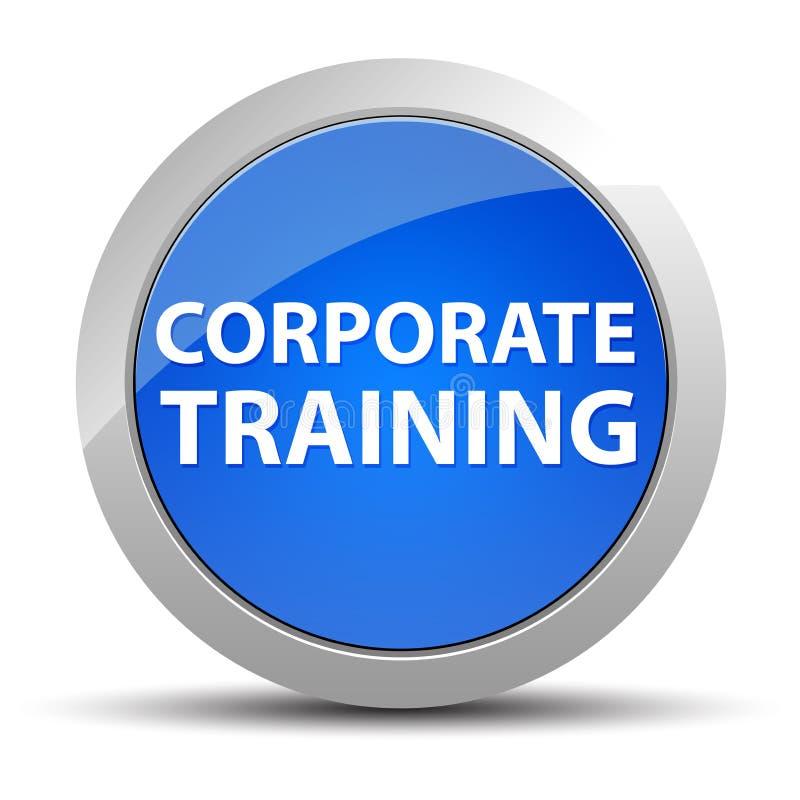 公司训练蓝色圆的按钮 皇族释放例证