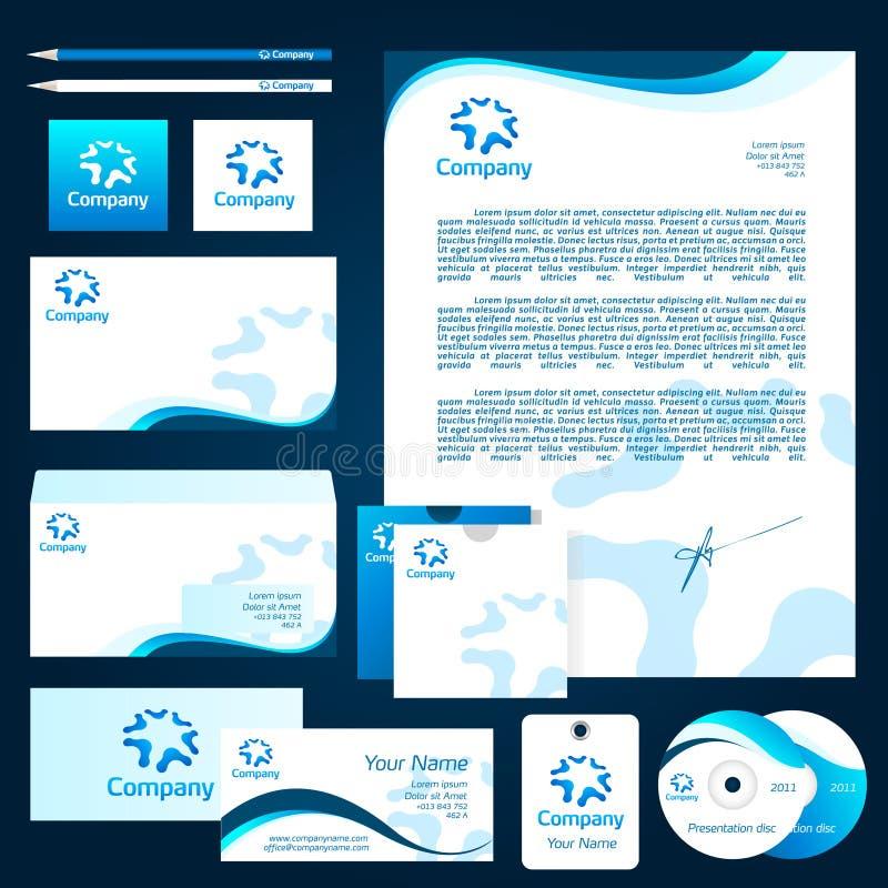 公司设计模板 免版税库存图片