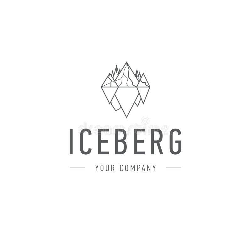 公司身分冷的山摘要传染媒介和商标设计或者模板小山企业象冰山三角  库存例证