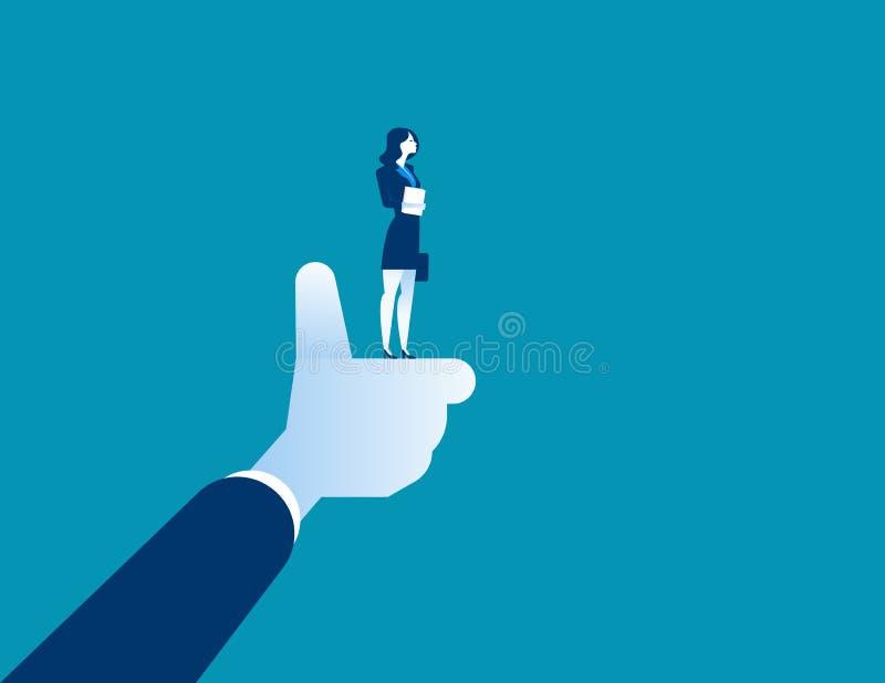 公司,经理赞许的最佳的女实业家 Concep 库存例证