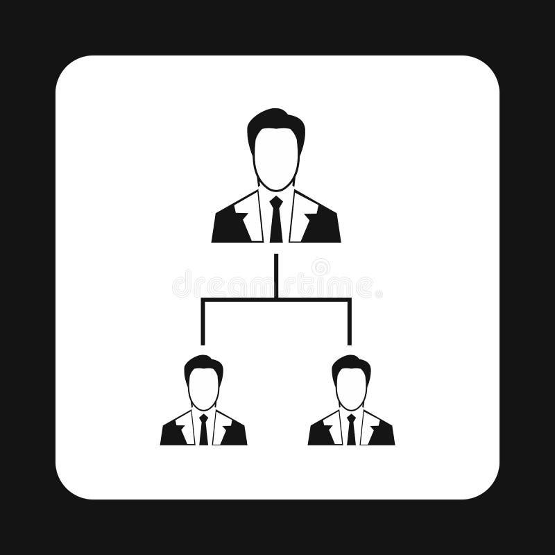 公司结构象,简单的样式 库存例证