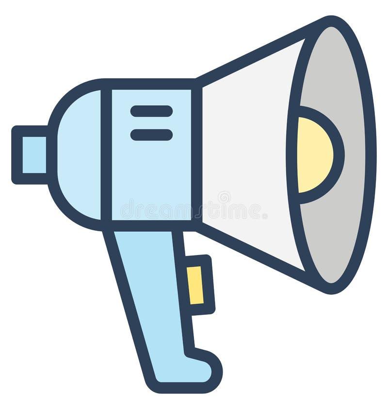 公告,手提式扬声机在所有大小可以容易地被编辑或修改的被隔绝的传染媒介象 向量例证