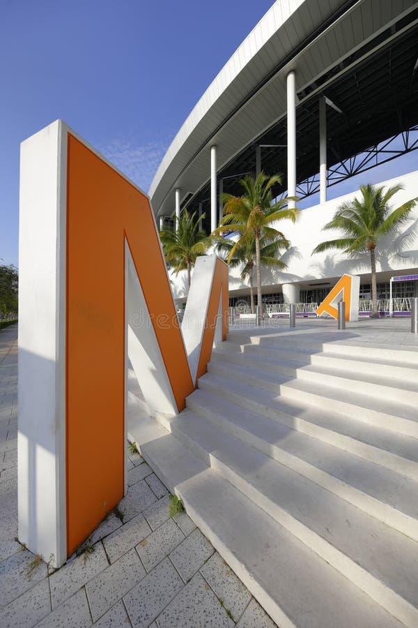 细索公园体育场迈阿密FL 免版税库存照片
