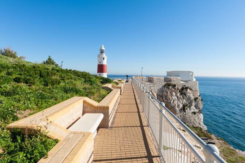 公园和灯塔在直布罗陀 免版税库存图片