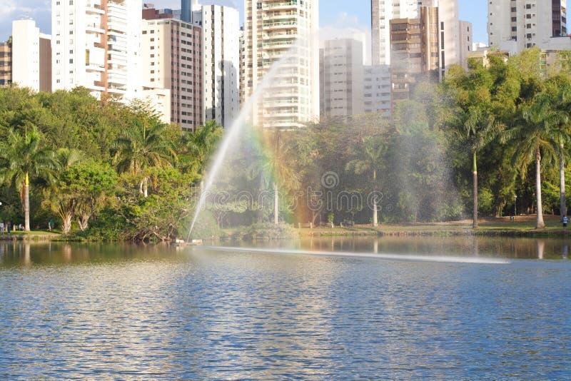 公园在戈亚尼亚 免版税库存图片