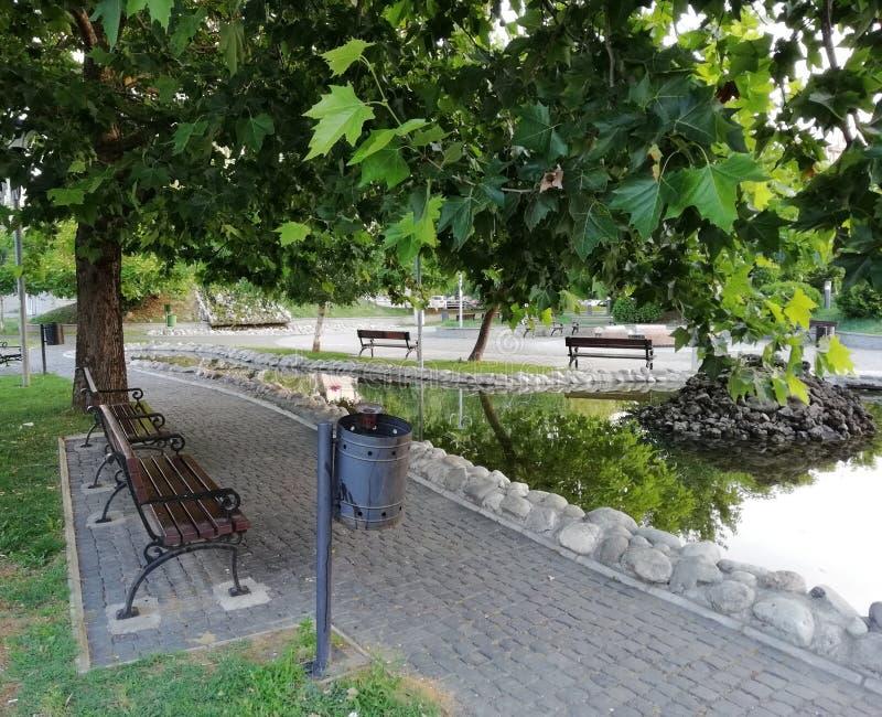 公园在斯科普里 免版税库存照片