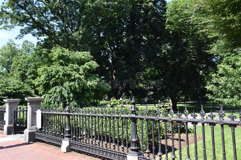 公园在波士顿,马萨诸塞 库存图片