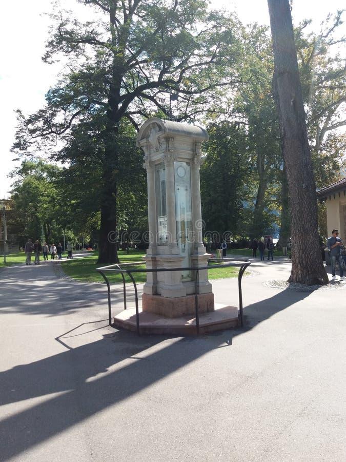 公园在科莫 免版税库存图片