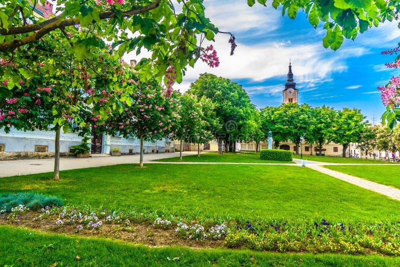 公园在Krizevci,克罗地亚 免版税库存图片