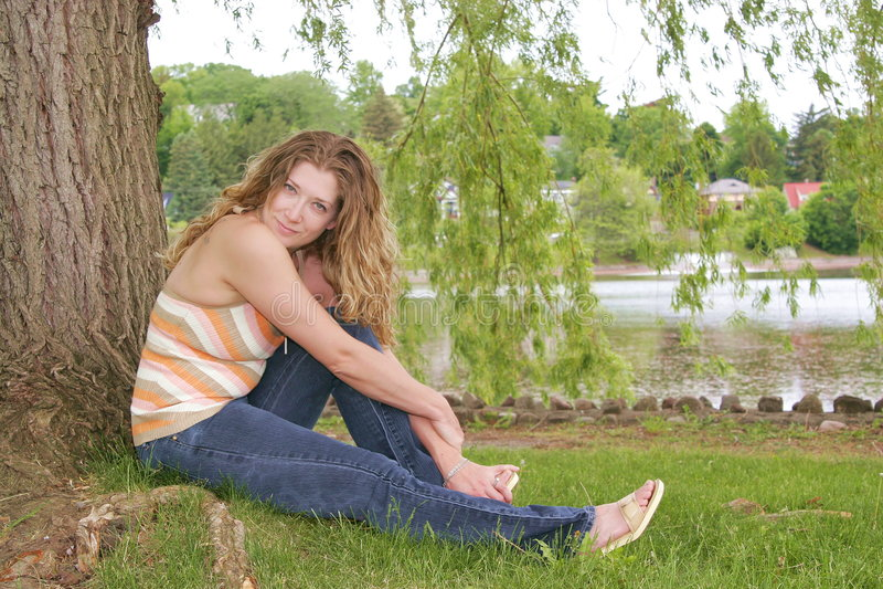 公园妇女 图库摄影