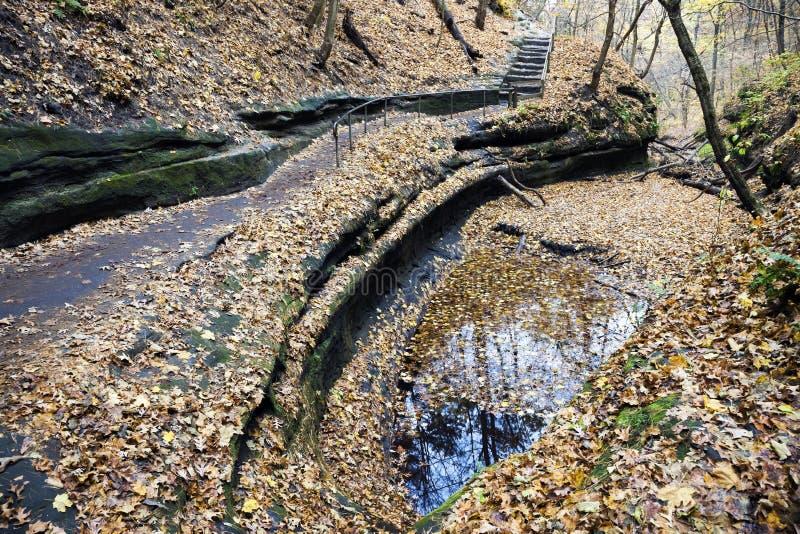 公园岩石挨饿的状态线索 库存照片