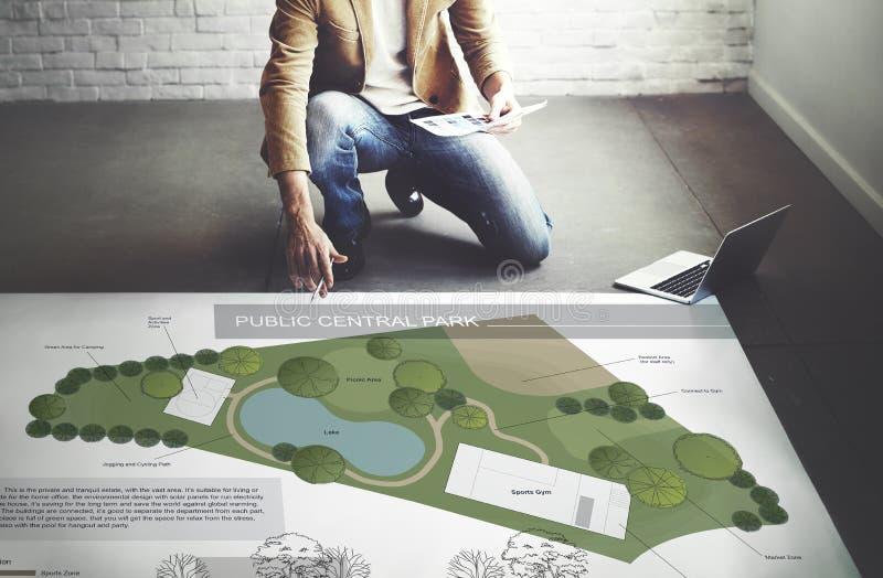 公园布局地图信息概念 向量例证