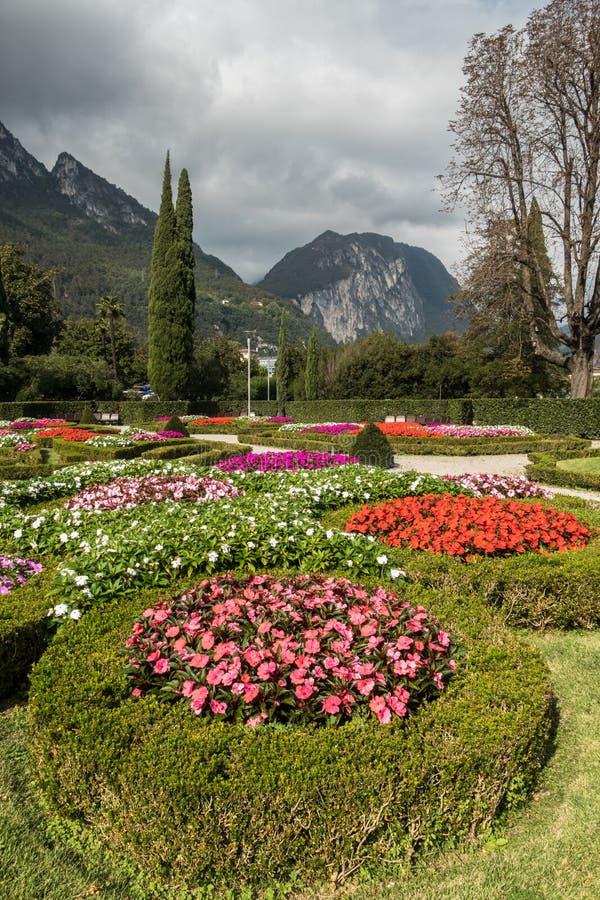 公园庭院山景城,意大利 库存照片