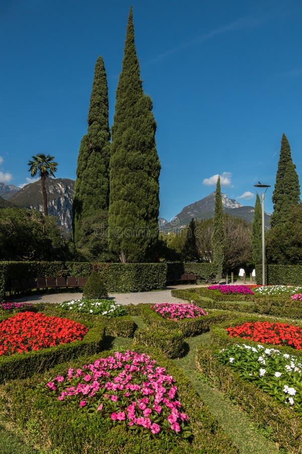 公园庭院山景城,意大利 免版税图库摄影