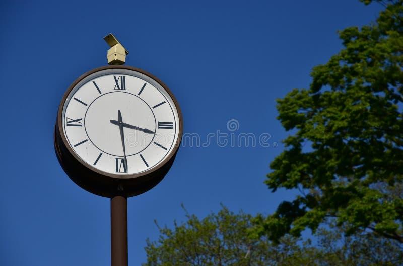 公园的时钟 免版税库存图片
