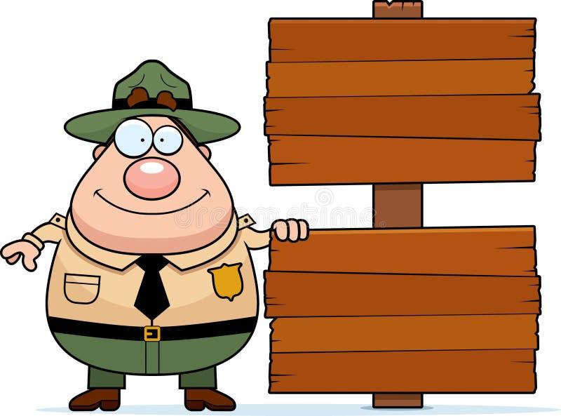 公园管理员标志 向量例证
