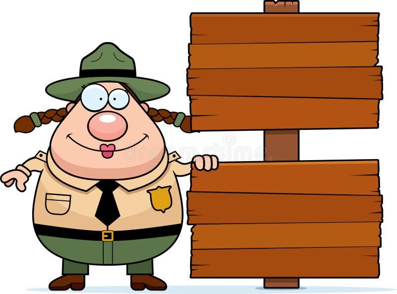 公园管理员标志 库存例证
