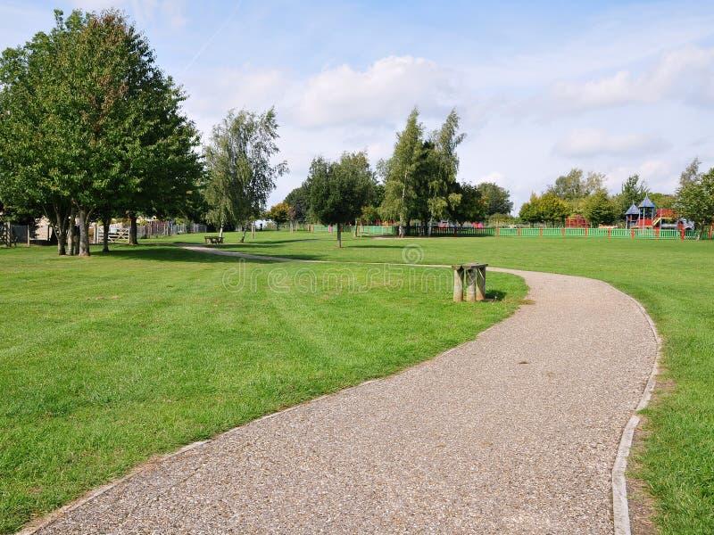公园路径绕 库存图片