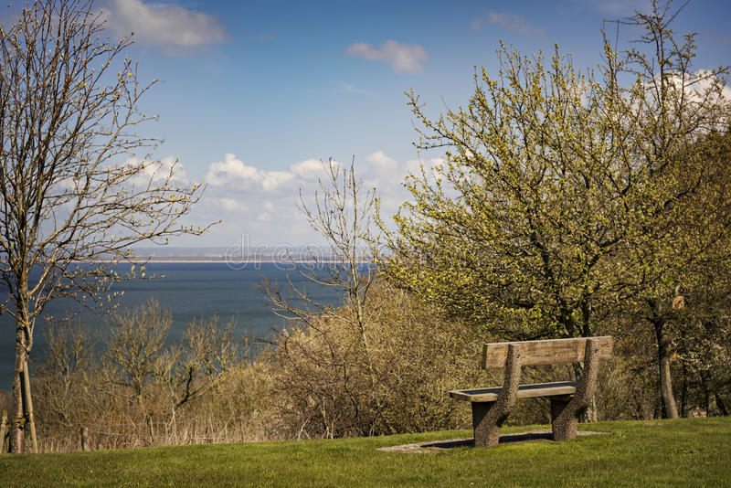 公园长椅休息中止 免版税库存图片