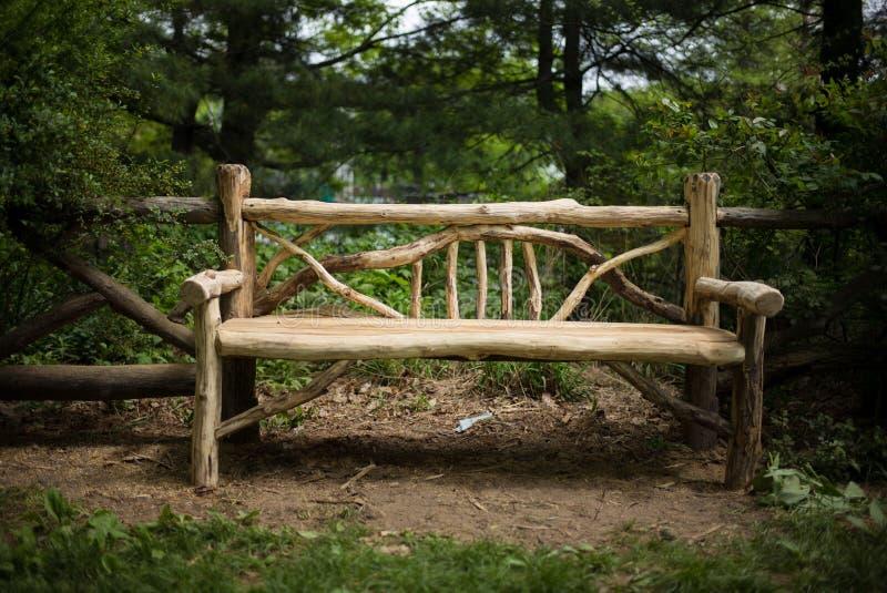 公园长椅木头 库存图片