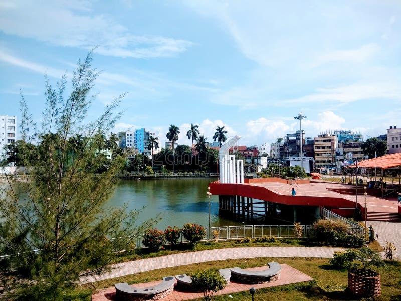 公园集会湖 免版税图库摄影