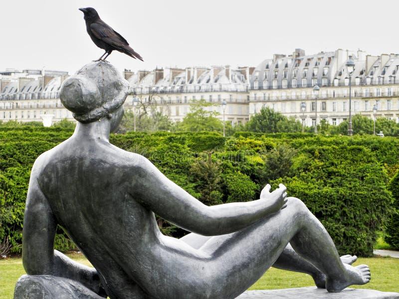 巴黎公园雕塑 库存图片