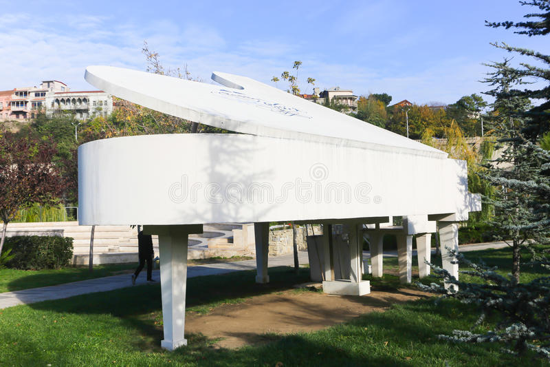 公园-第比利斯乔治亚 库存图片