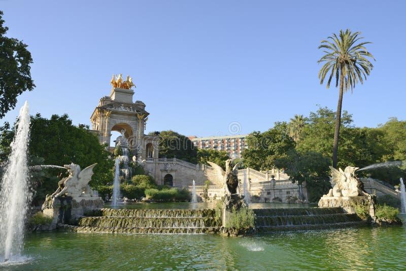 公园Ciutadella在巴塞罗那 免版税库存图片