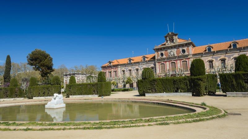 公园Ciutadella,在巴塞罗那,西班牙 免版税库存图片