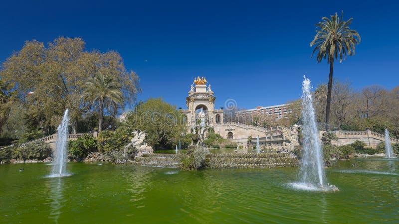 公园Ciutadella,在巴塞罗那,西班牙 免版税库存照片