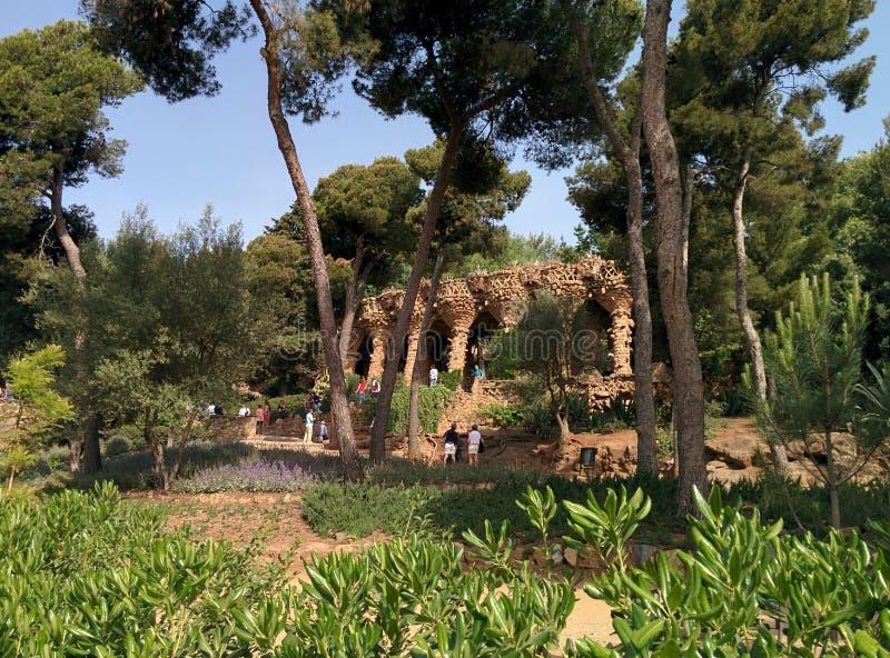 公园GÃ ¼侧房巴塞罗那西班牙 库存图片