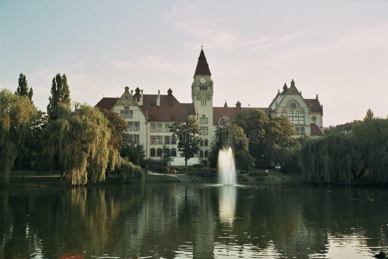 公园stanislawa tolpy弗罗茨瓦夫波兰 免版税库存图片
