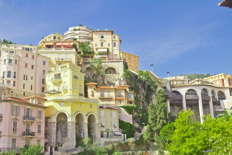 公国Monako.Monte Carlo.urban风景 克罗monte 库存图片