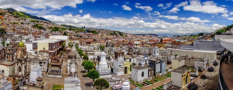 公墓圣地亚哥壮观的概要 库存照片