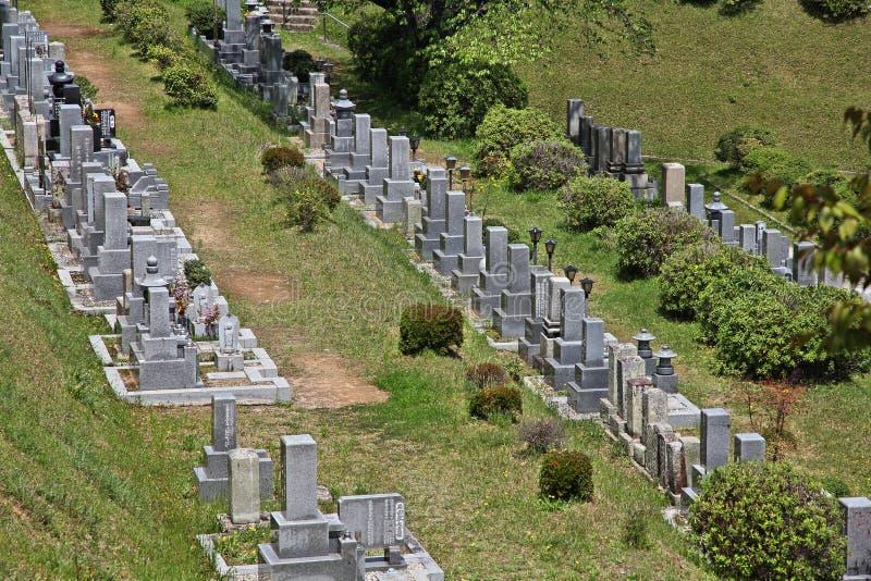 公墓在日本 免版税库存照片