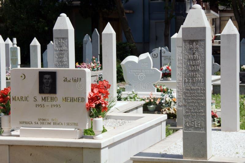 公墓在莫斯塔尔 库存照片