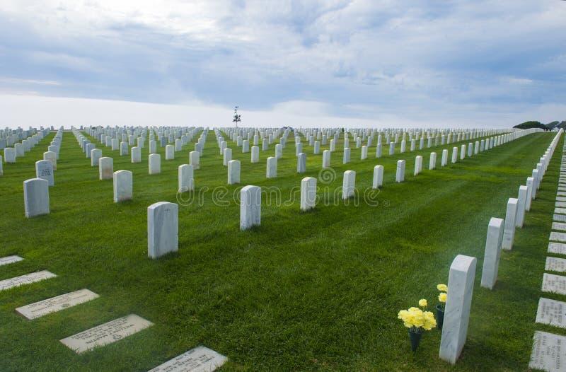 公墓在洛马角圣地亚哥 免版税库存图片