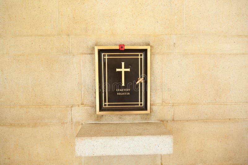 公墓记数器 免版税库存照片