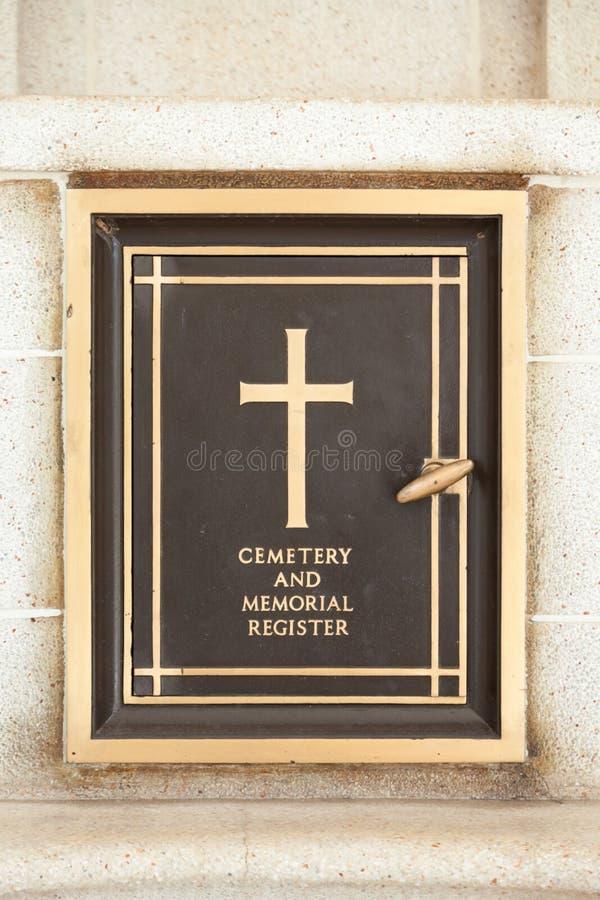 公墓记数器 库存照片