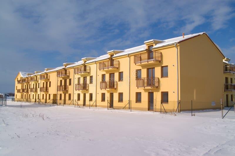 公寓冬天 库存图片