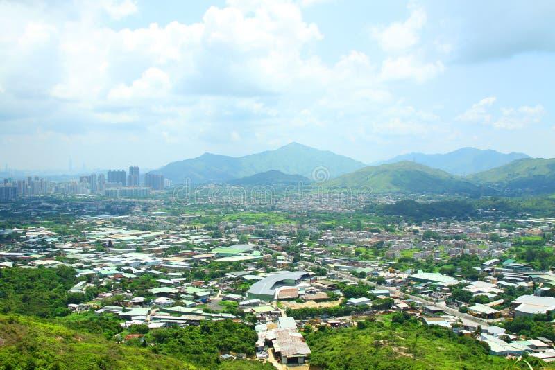 公寓区阻拦香港农村的许多 免版税库存照片
