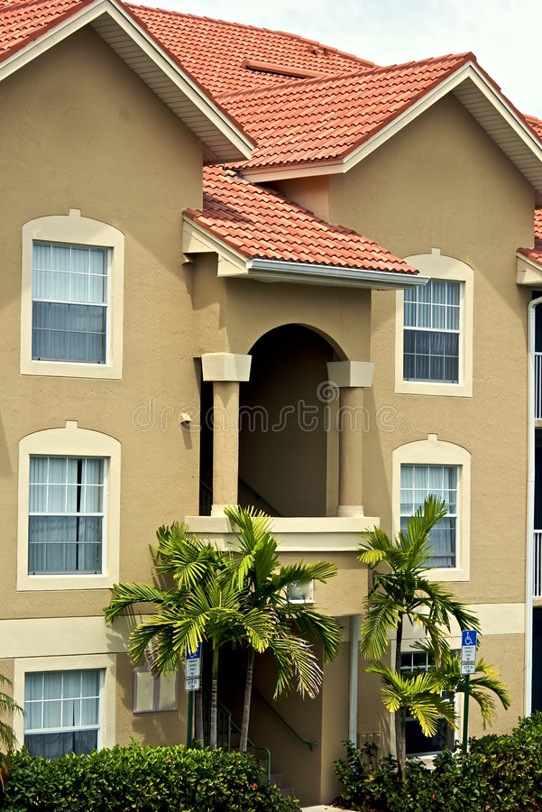 公寓华丽的佛罗里达 免版税库存照片