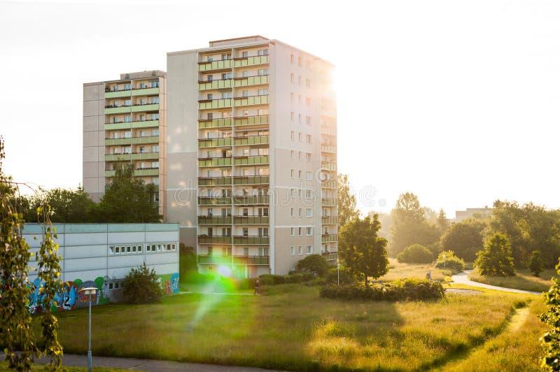 公寓在法兰克福(奥得河) 免版税库存照片