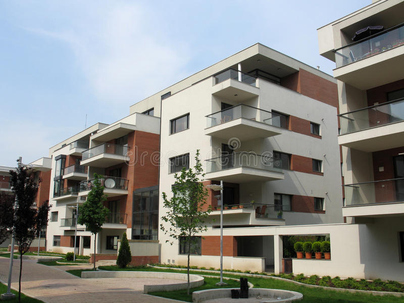 公寓复杂  免版税库存图片