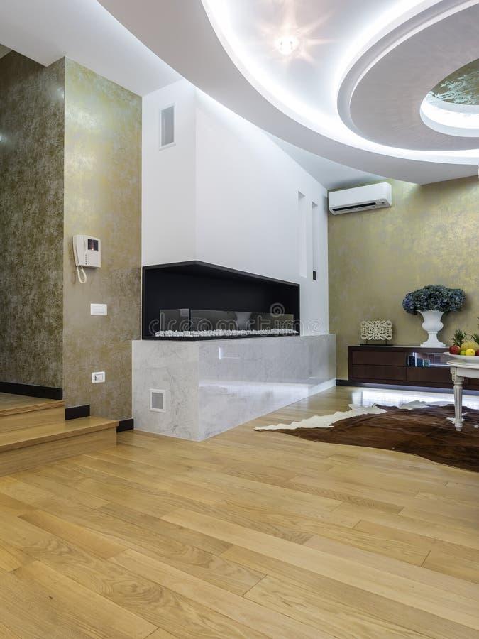 公寓客厅内部 免版税图库摄影