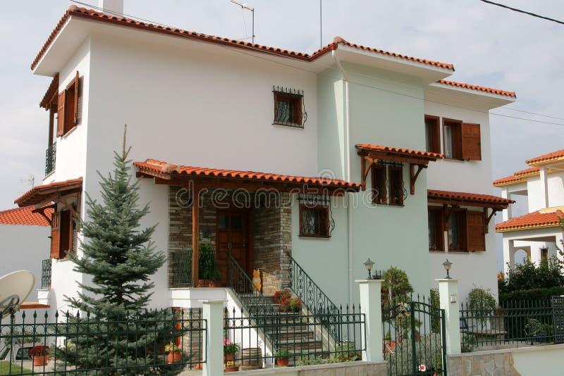 公寓希腊房子 库存图片