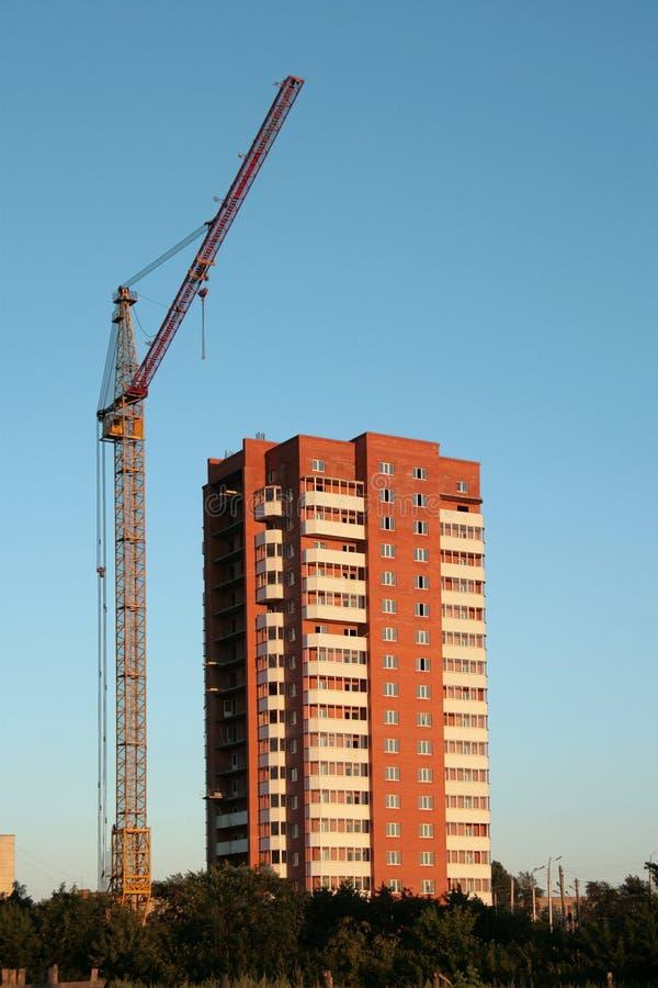 公寓建筑安置新 库存图片