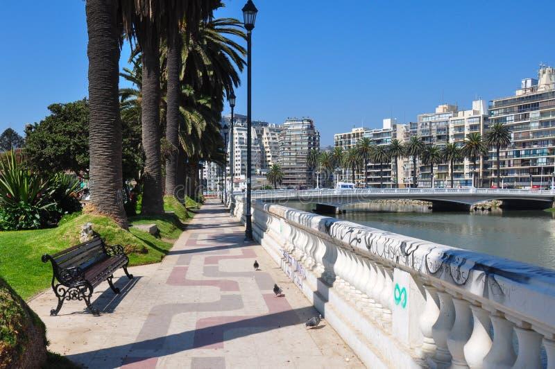 公寓房在比尼亚德尔马,智利 库存图片