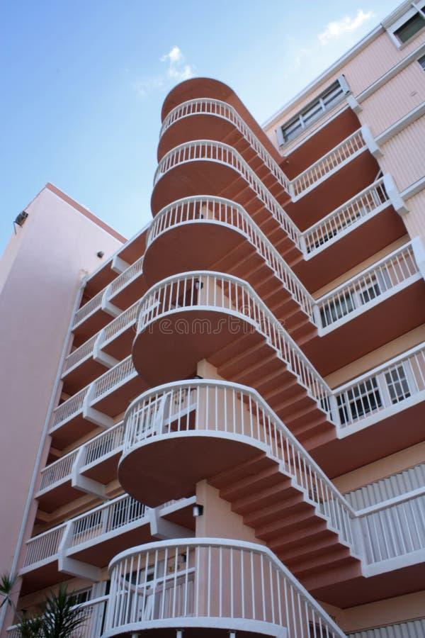 公寓房楼梯 免版税库存图片