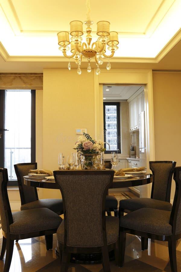 公寓的方便饭厅 免版税图库摄影